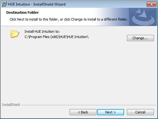 HUE Intuition installation folder