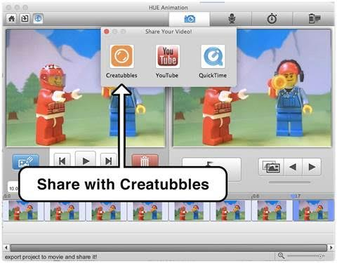 The 'Share with Creatubbles' button