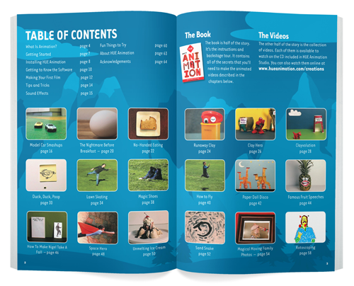 Table of Contents: The HUE Book of Animation
